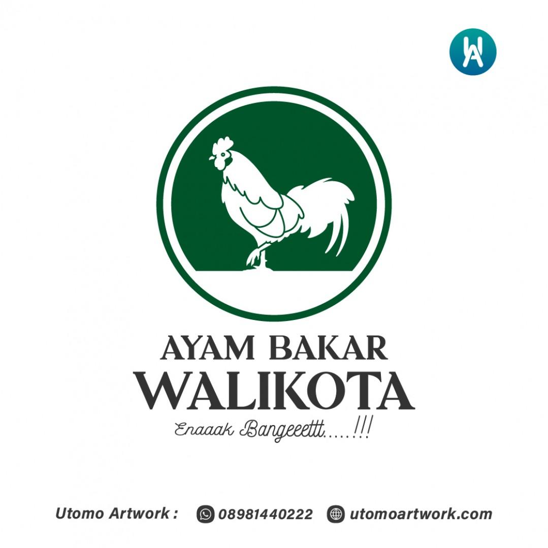 Desain Logo Ayam Bakar Walikota