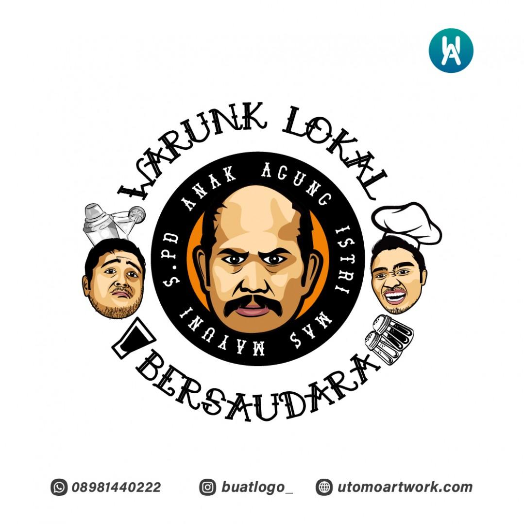 Desain Logo Warunk Lokal Bersaudara