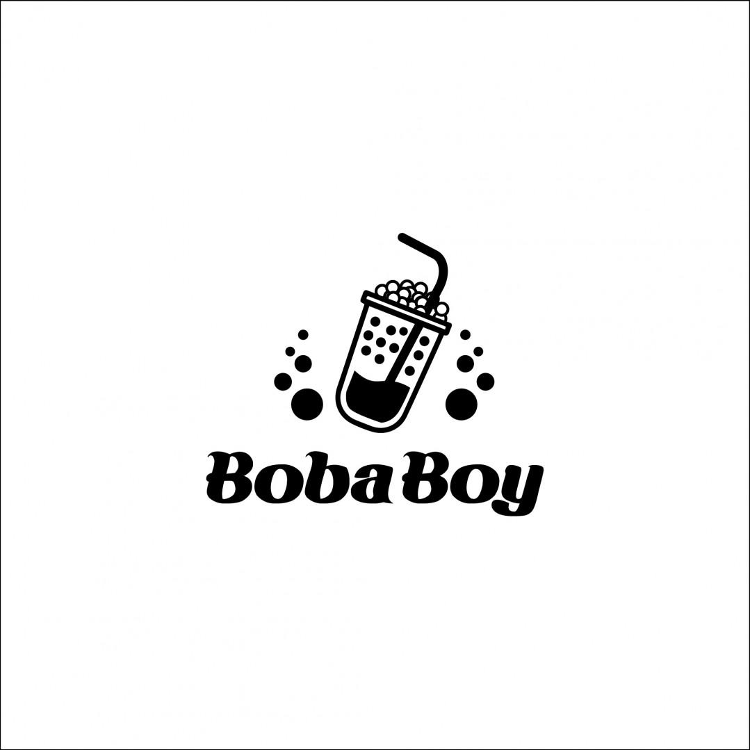 Desain Logo Boba Boy