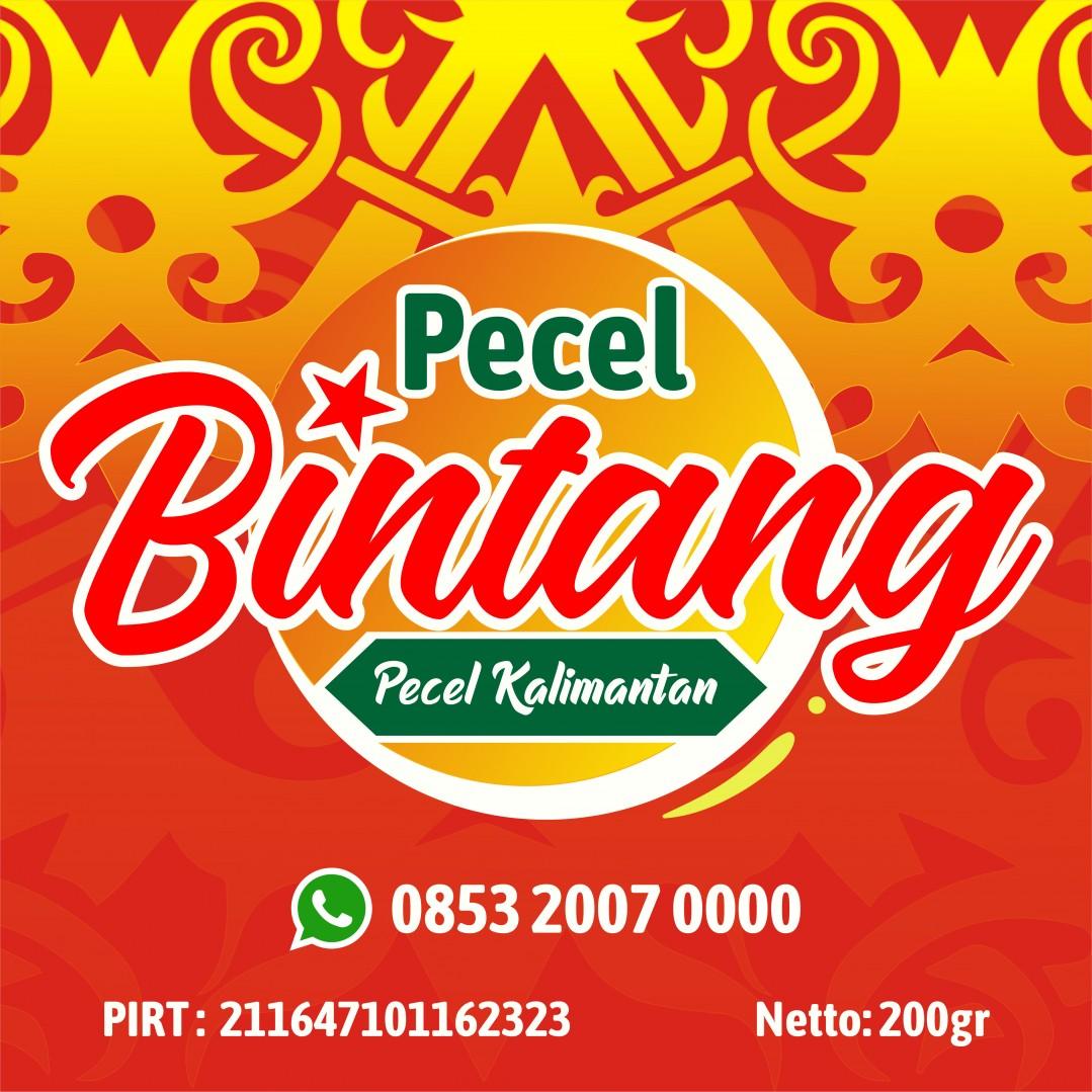 Desain Label Pecel Bintang Kalimantan