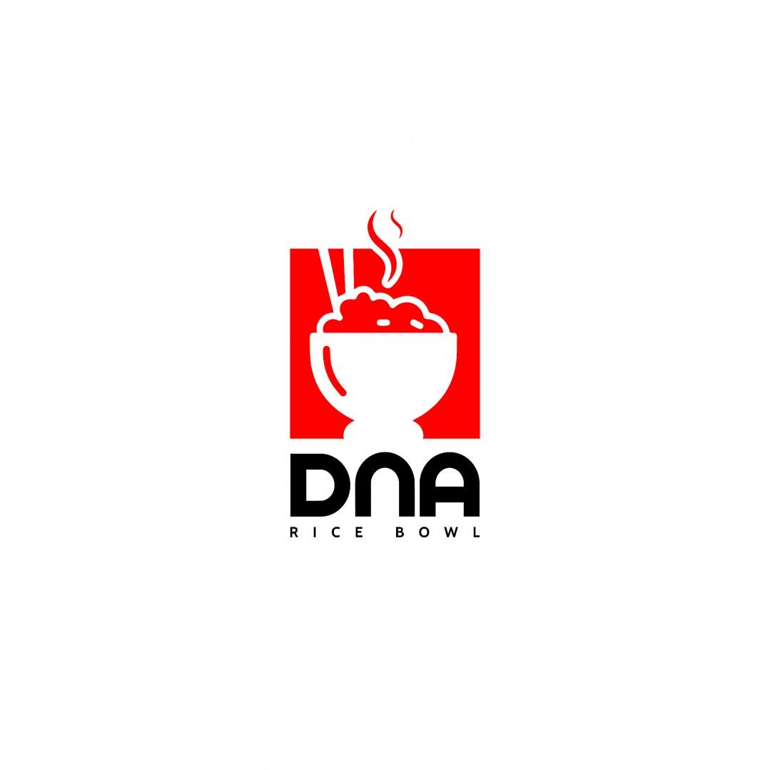 Desain Logo DnA Ricebowl