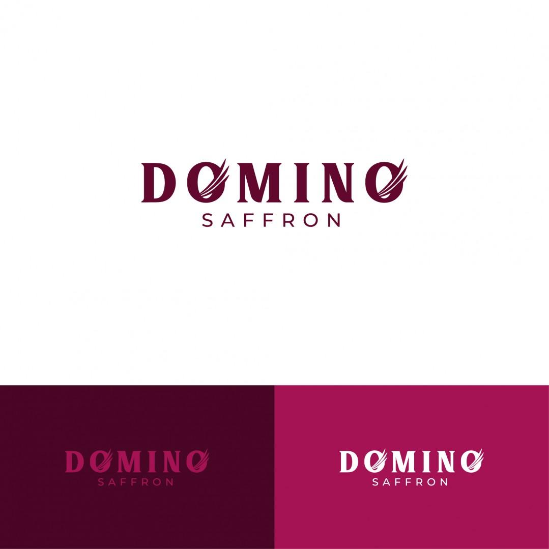 Desain Logo Domino Saffron