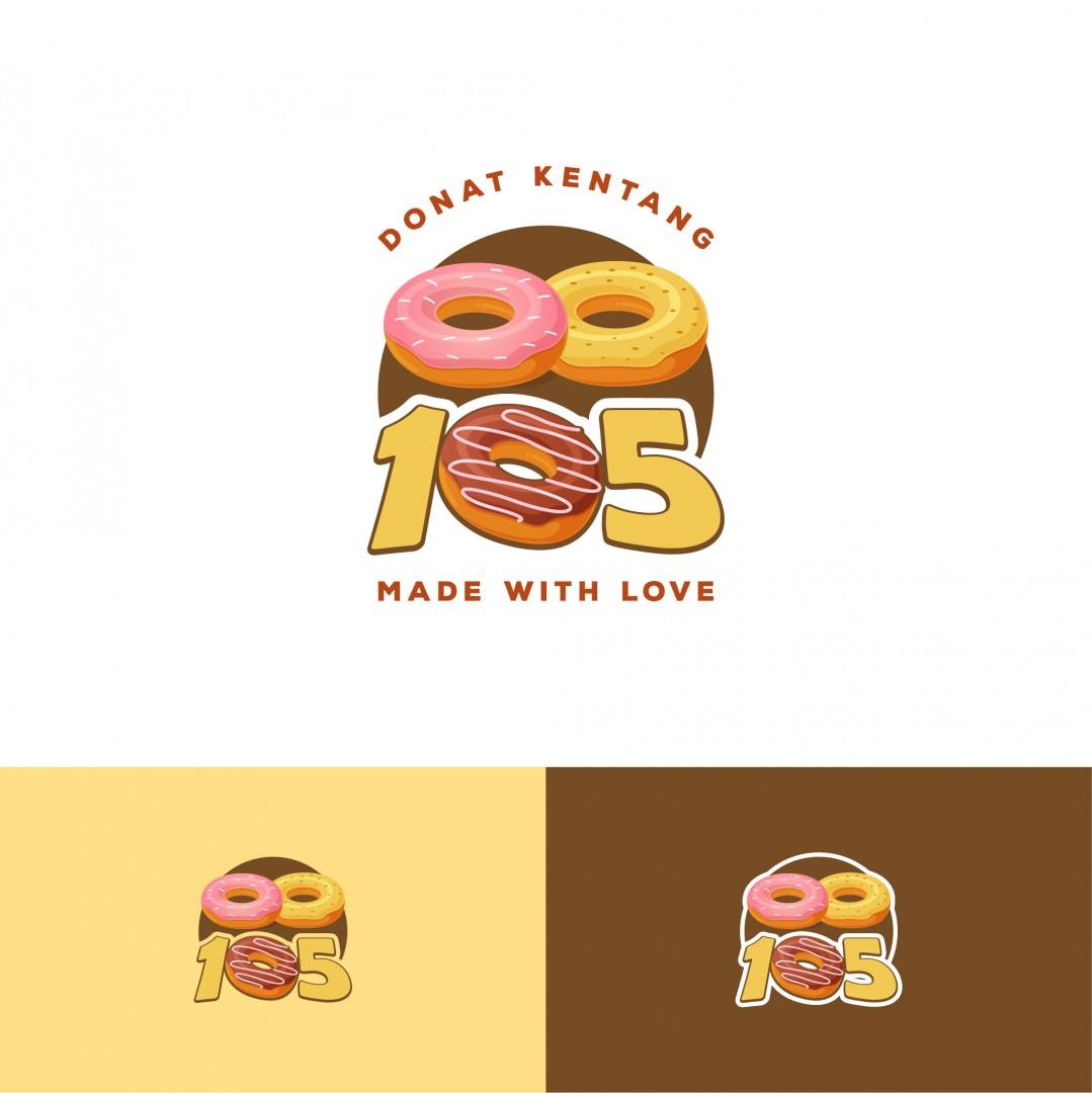 Desain Logo Donat