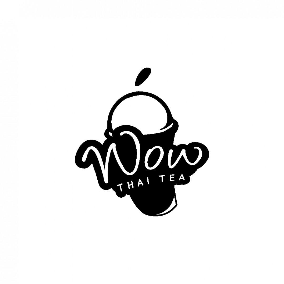 Desain Logo Wow Thai Tea