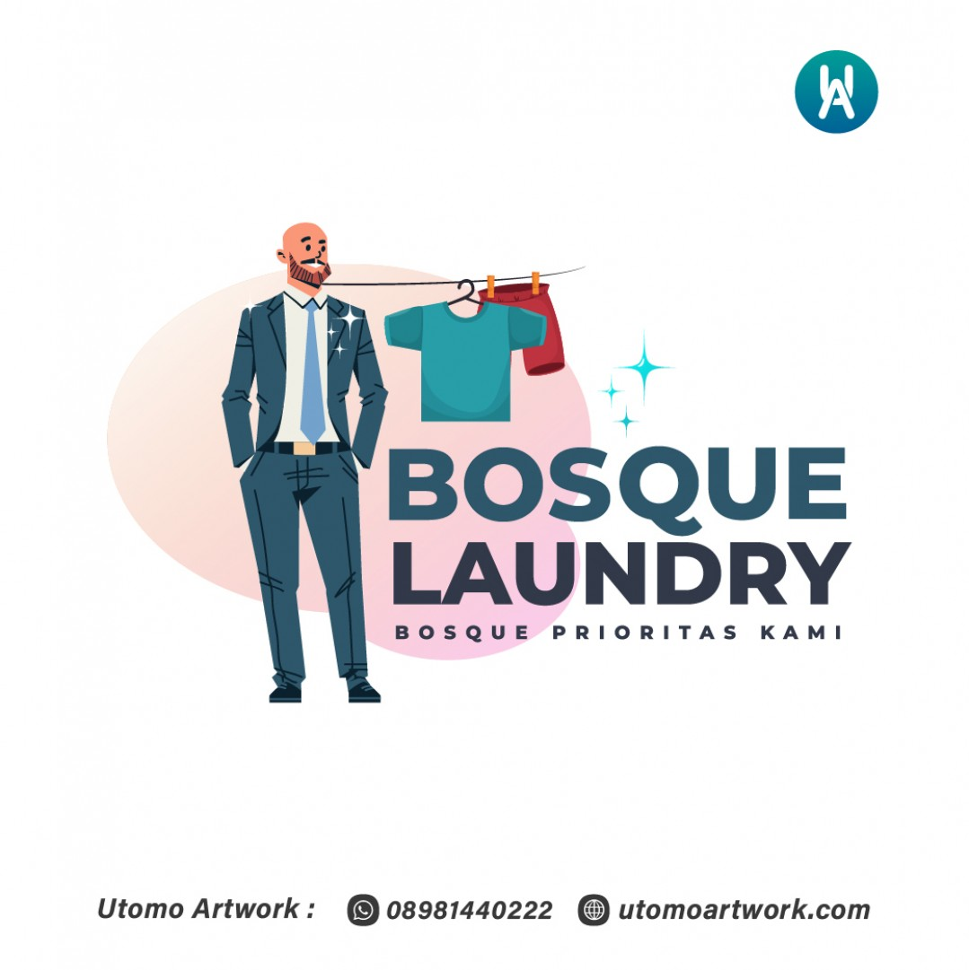 Desain Logo Bosque Laundry