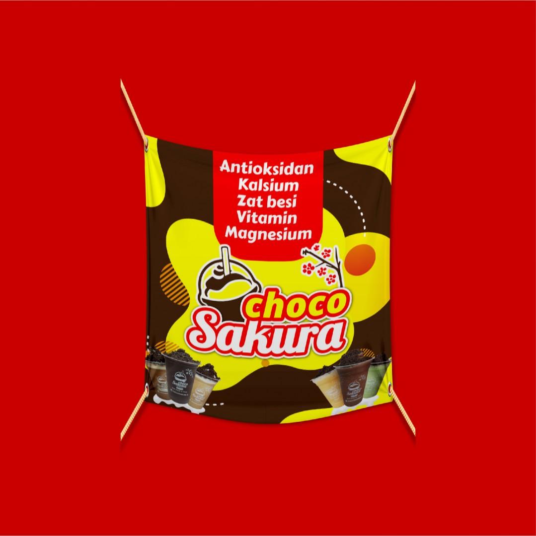 Spanduk Choco Sakura