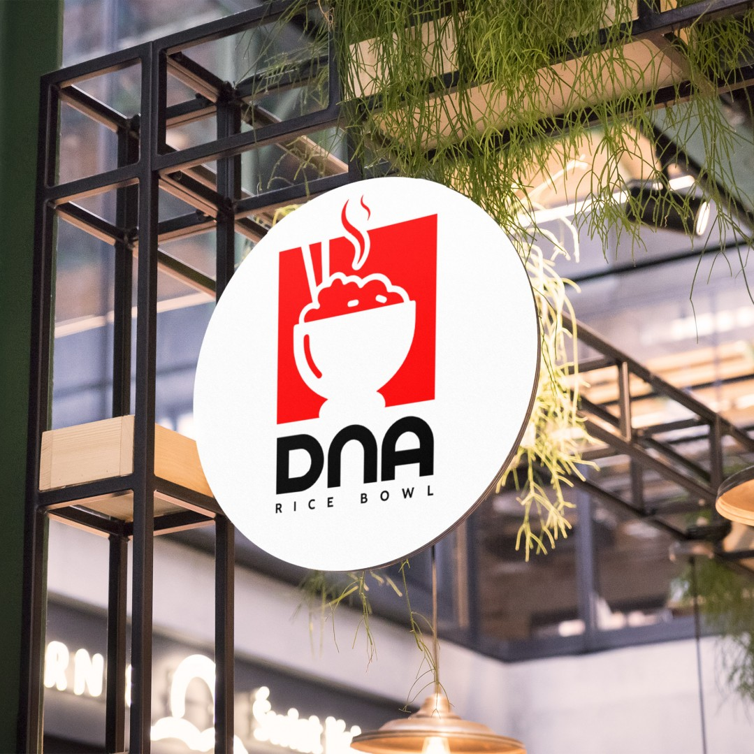 Desain Logo Brand Dna Ricebowl