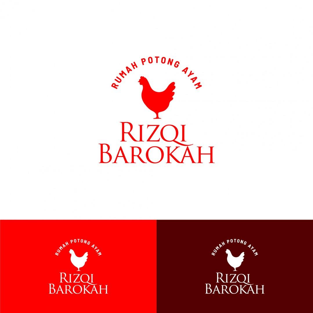 Desain Logo Toko Ayam Rizqi Barokah