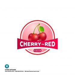 Desain Logo Cherry Red