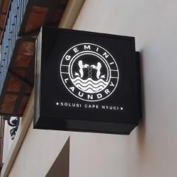 Desain Logo Gemini Laundry