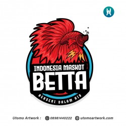 Indonesia Maskot Betta Logo