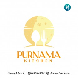 Desain Logo Purnama Kitchen