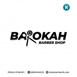 Desain Logo Barokah Barbershop